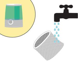 как мыть увлажнитель воздуха