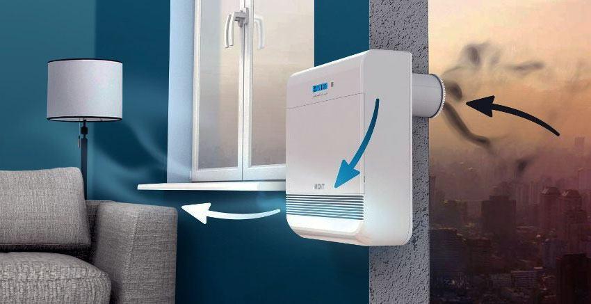 монтаж бытовой приточной вентиляции